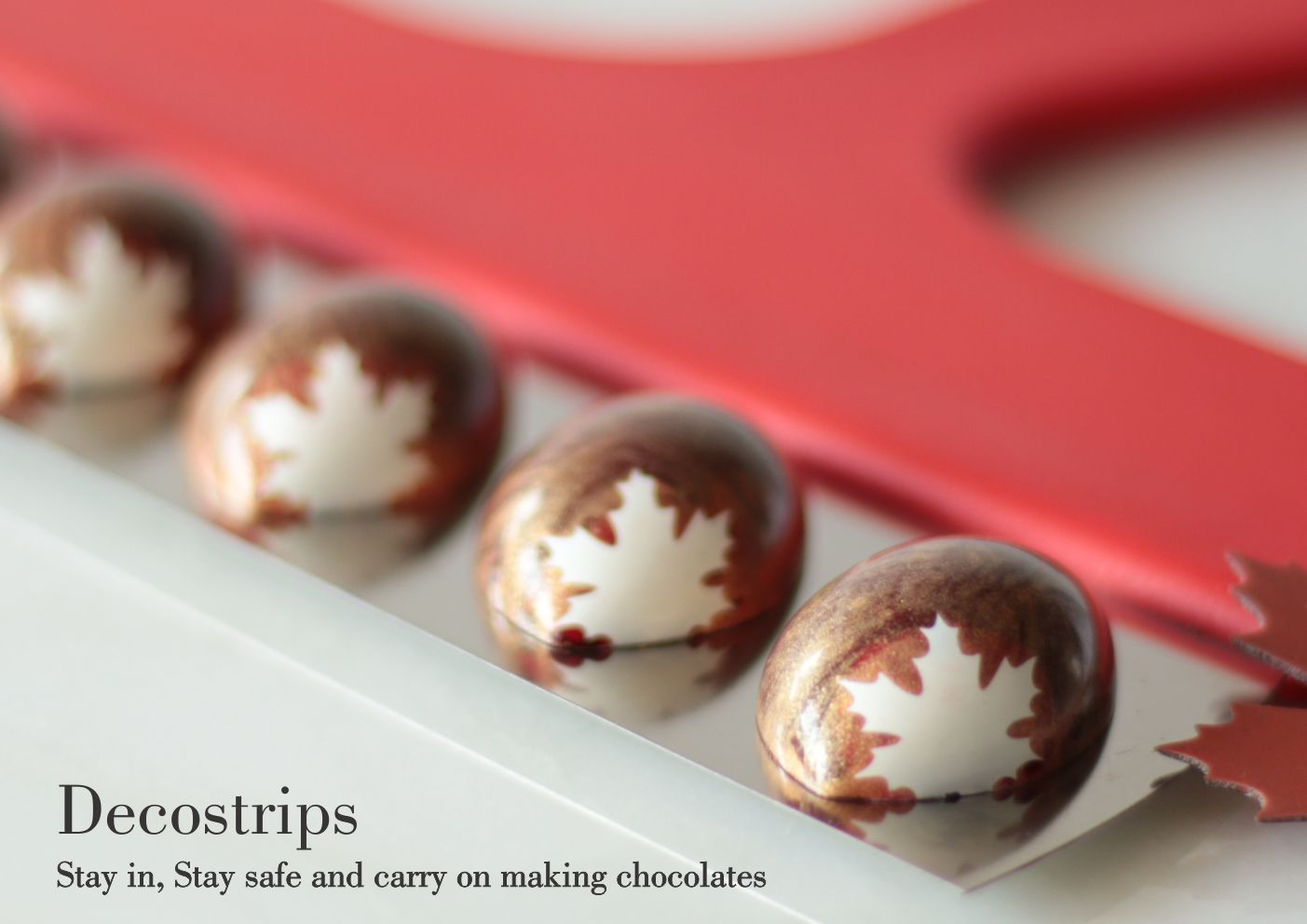 Decostrips custom chocolate bonbons