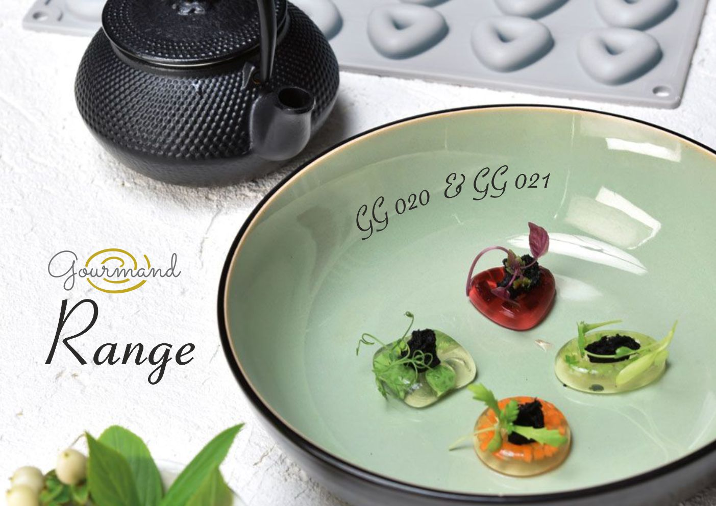 gourmand range gg020 & gg021, food mould, silicon mould